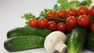 Stock Video Footage of fresh vegetables closeup