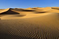 Algeria, Sahara, View of sand dunes - stock photo