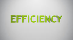 Efficiency icon. - stock footage