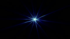 Star Abstract Shine BG blue Stock Footage