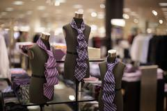 Mens neck ties - stock photo