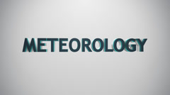 Meteorology icon. Stock Footage