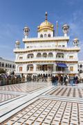 India, Punjab, Amritsar, View of Golden Temple Stock Photos