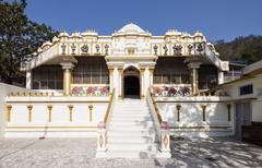 India, Uttarakhand, Rishikesh, Vew of Hindu temple Stock Photos
