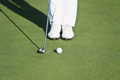 Stock Photo of Cyprus, Person playing golf on golf course
