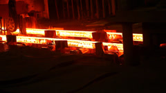 Steel rolling in a factory Stock Footage