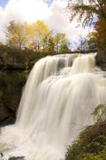 Brandywine falls in autumn portrait Stock Photos