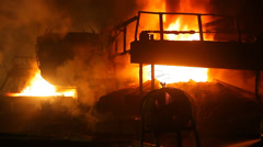 Steel making factory Stock Footage
