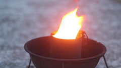 Memorial flame close-up, click for HD Stock Footage