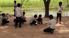 Cambodia children and School - stock footage