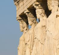caryatids, acropolis, athens - stock photo