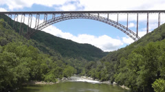 Stock Video Footage of new river gorge bridge with new river