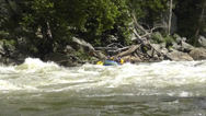 Stock Video Footage of whitewater rafters on a river