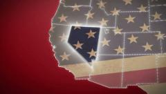 USA map, Nevada pull out, all states available. Red, click for HD - stock footage