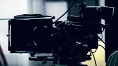 a professional digital camera on film set - stock footage