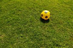 Italy, Soccer ball on grass - stock photo