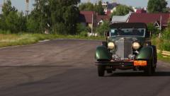Funny retro cabriolet car Packard Convertible, click for HD - stock footage