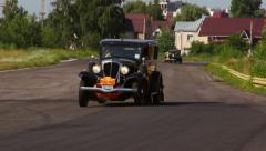 Vintage cars Rockne Six 75 Studebaker and Ford Model A, click for HD Stock Footage