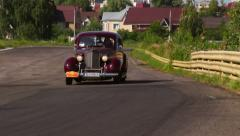 Dark red Packard Six 1700 vintage car, click for HD Stock Footage