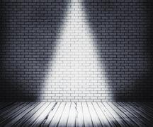 White room spotlight background Stock Illustration