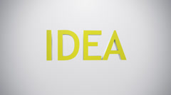Idea icon. Stock Footage