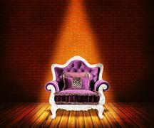 sofa in room background - stock illustration