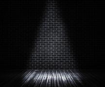 Black interior spotlight backdrop Stock Illustration