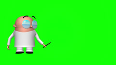 Funny Scientist Green Screen Stock Footage
