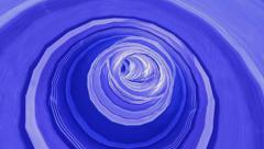Blue Tunnel Stock Footage