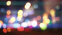 Night city lights Stock Footage