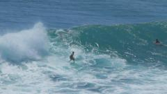 SURFER IN BIG WAVE # 5 Stock Footage