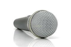 universal dynamic microphone - stock photo
