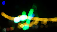 Night lights abstract background Stock Footage