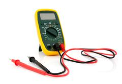 Multimeter with cables Stock Photos