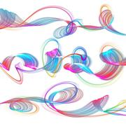 abstract waves - stock illustration