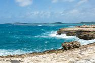 Stock Photo of scenic ocean coastline at devil's bridge antigua