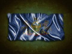 Vintage Pennsylvania lippu. Piirros