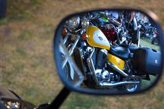 Rearview mirror - stock photo