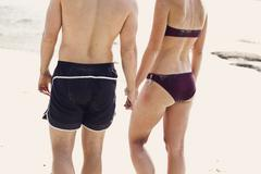 Stock Photo of Thailand, Koh Surin, Young couple on beach