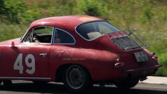 Legendary German Porsche 356C on the road, click for HD Stock Footage