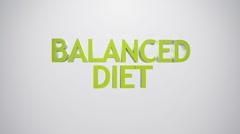 Balanced diet icon. Stock Footage
