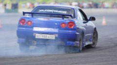 Drift car Stock Footage