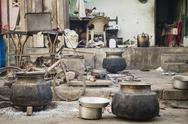 India, Ahmedabad, View of street kitchen Stock Photos