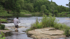 Skipping rocks Stock Footage