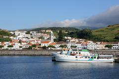 Port of horta on faial azores portugal Stock Photos