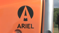Ariel car badge Stock Footage