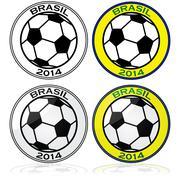 Brazil soccer 2014 Stock Illustration