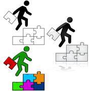 success puzzle - stock illustration