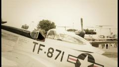 North American plane Mustang steers at World War II, click for HD - stock footage