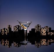 Metropolis vodka martini Stock Photos